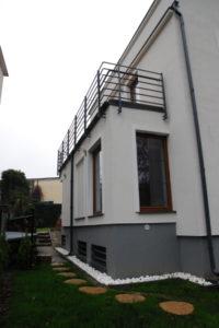 przebudowa domu w gdyni detal taras